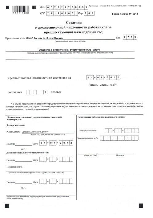 Какие налогоплательщики обязаны подавать сведения о среднесписочной численности в ИФНС