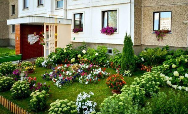 Озеленение и благоустройство территории многоэтажного ...  Благоустройство Территории Жилого Дома