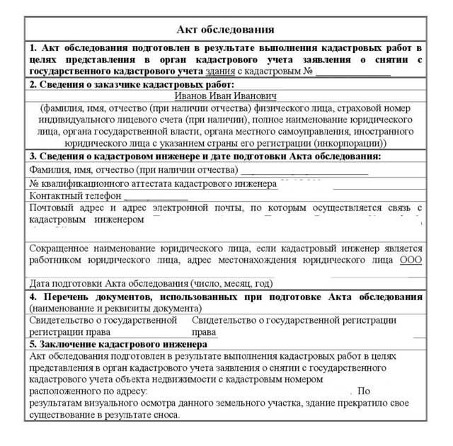 Акт обследования объекта недвижимости (приложение к договору на оказание услуг по охране объектов недвижимого имущества): образец 2020